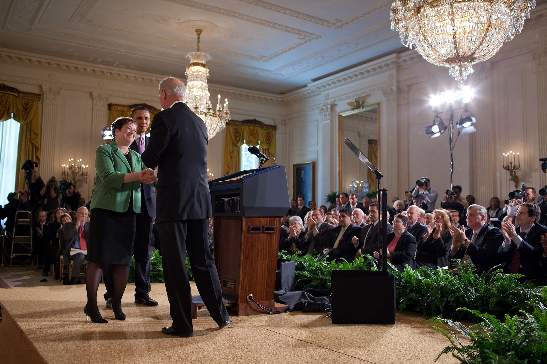 President Obama and Vice President Biden Applaud Supreme Court Nominee Elena Kagan