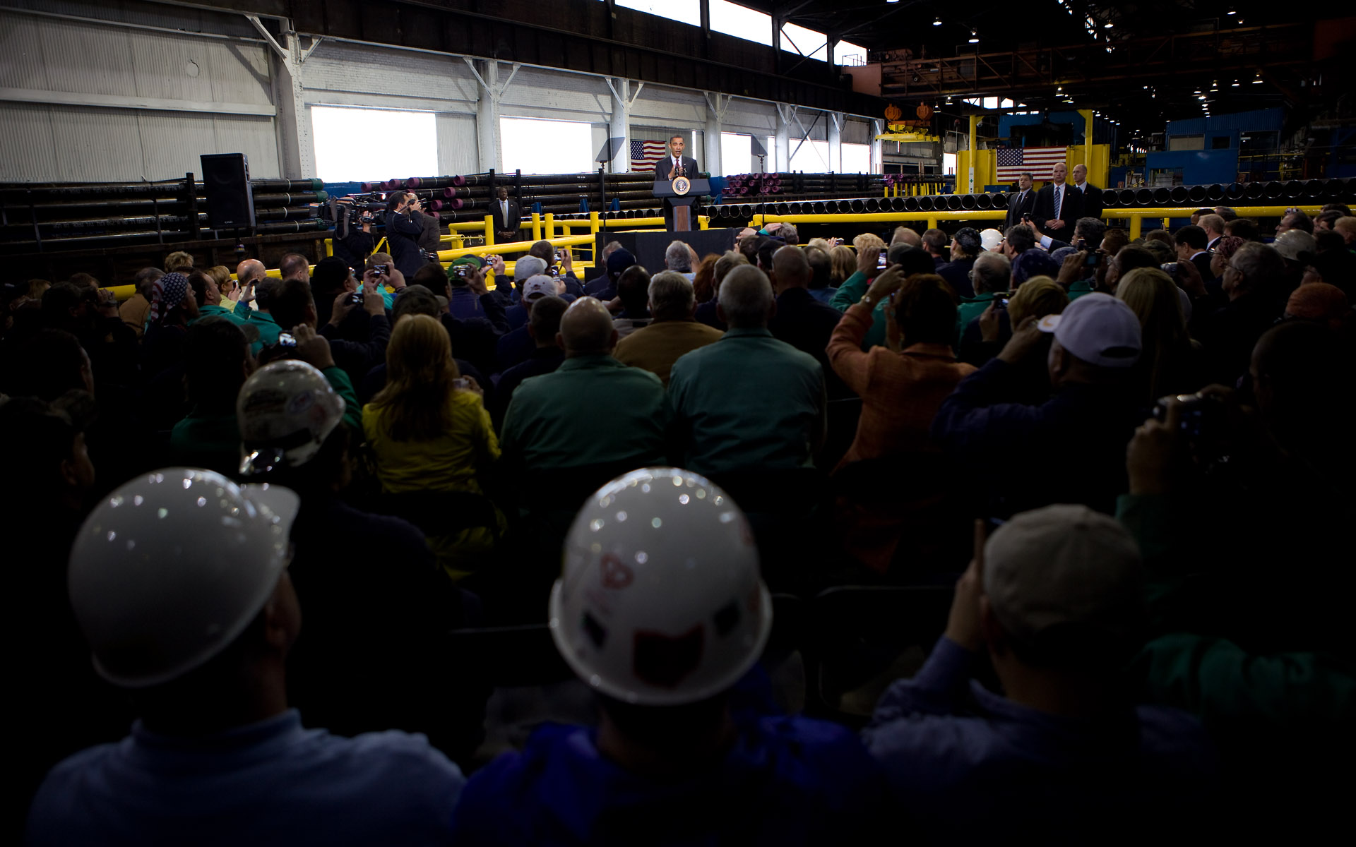 President Barack Obama delivers remarks on jobs in Ohio