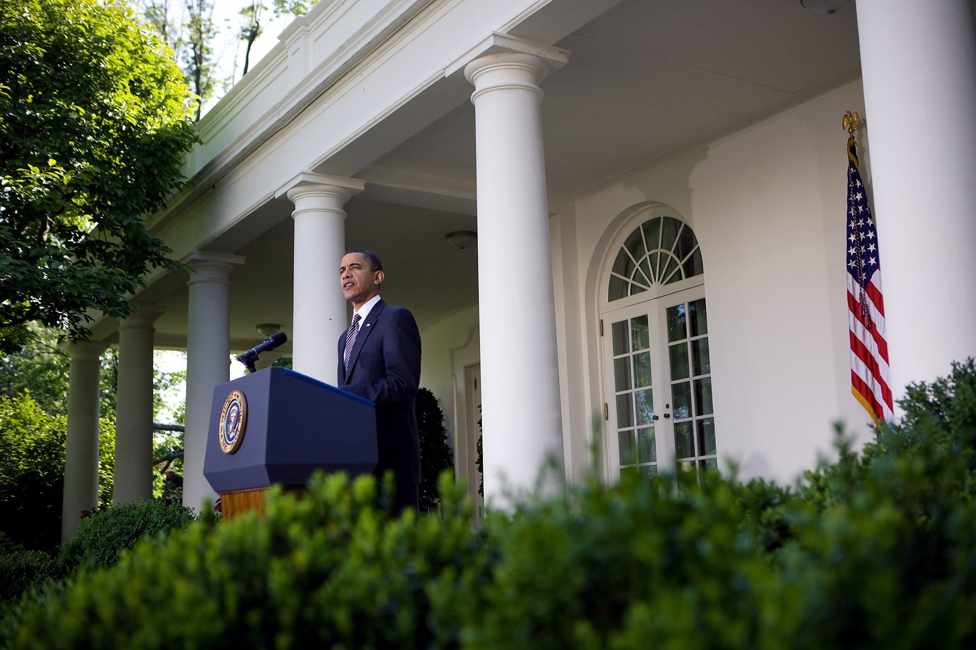 President Barack Obama makes a statement on Wall Street Reform