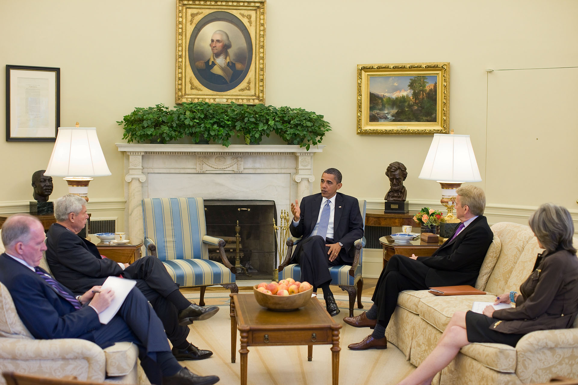 President and BP Commission in Oval Office