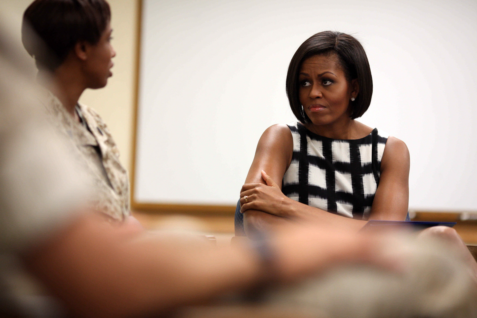 First Lady Michelle Obama meets with parents