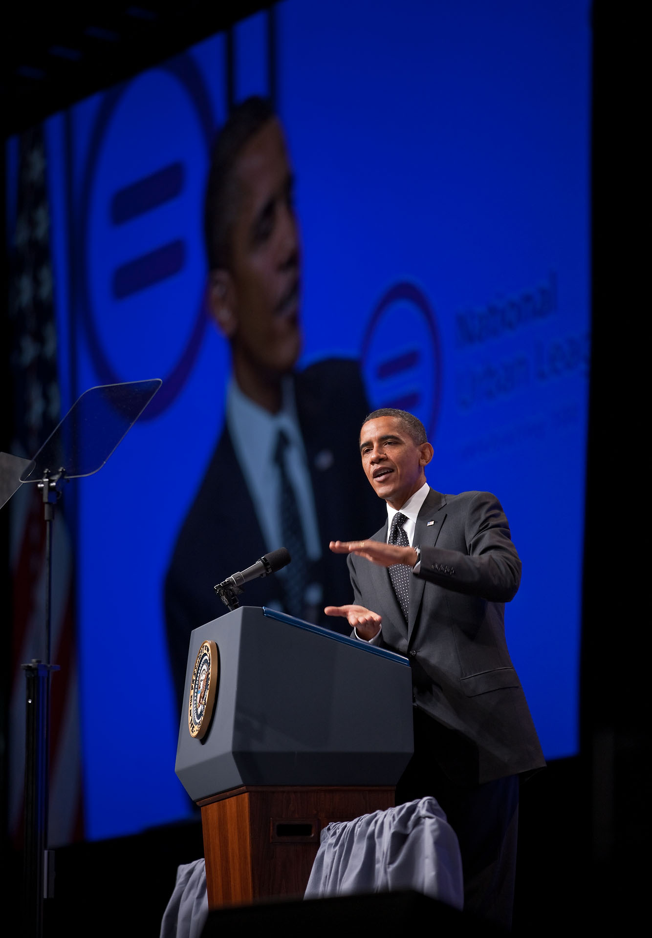 President Barack Obama delivers remarks to the National Urban League 2