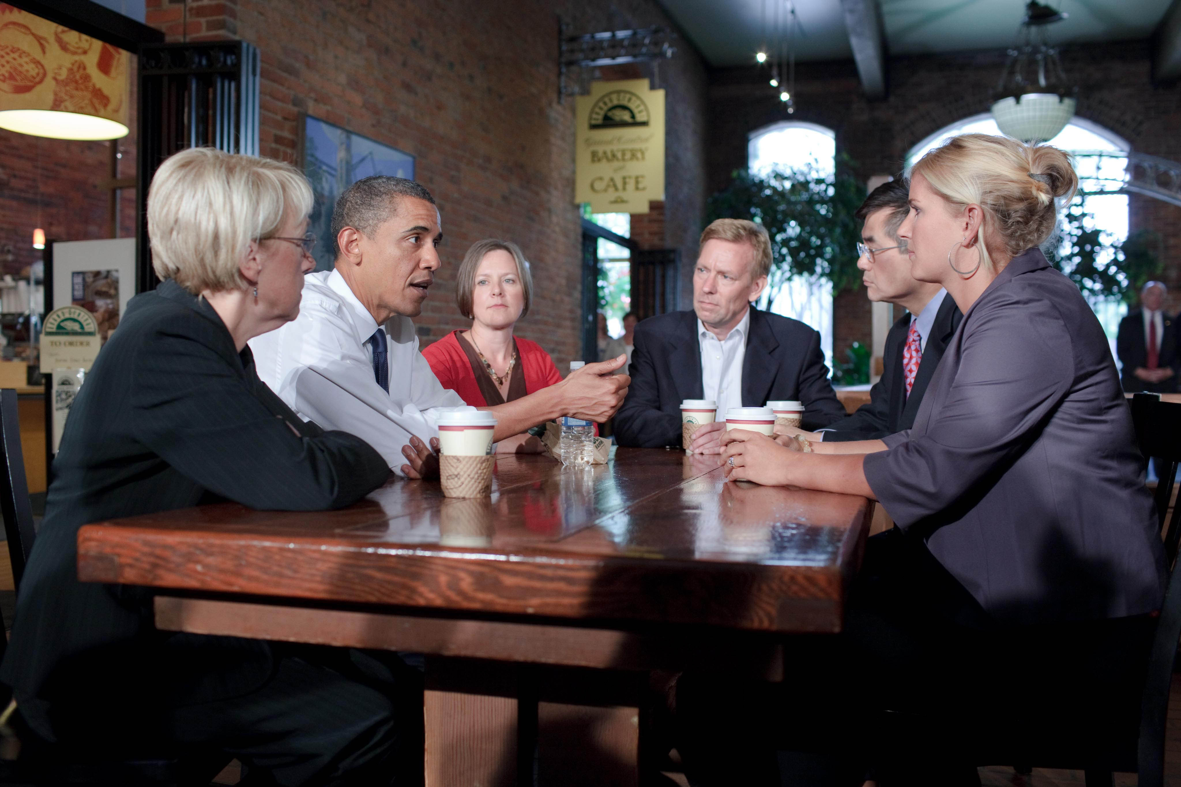 President Obama meets with small business owners in Seattle