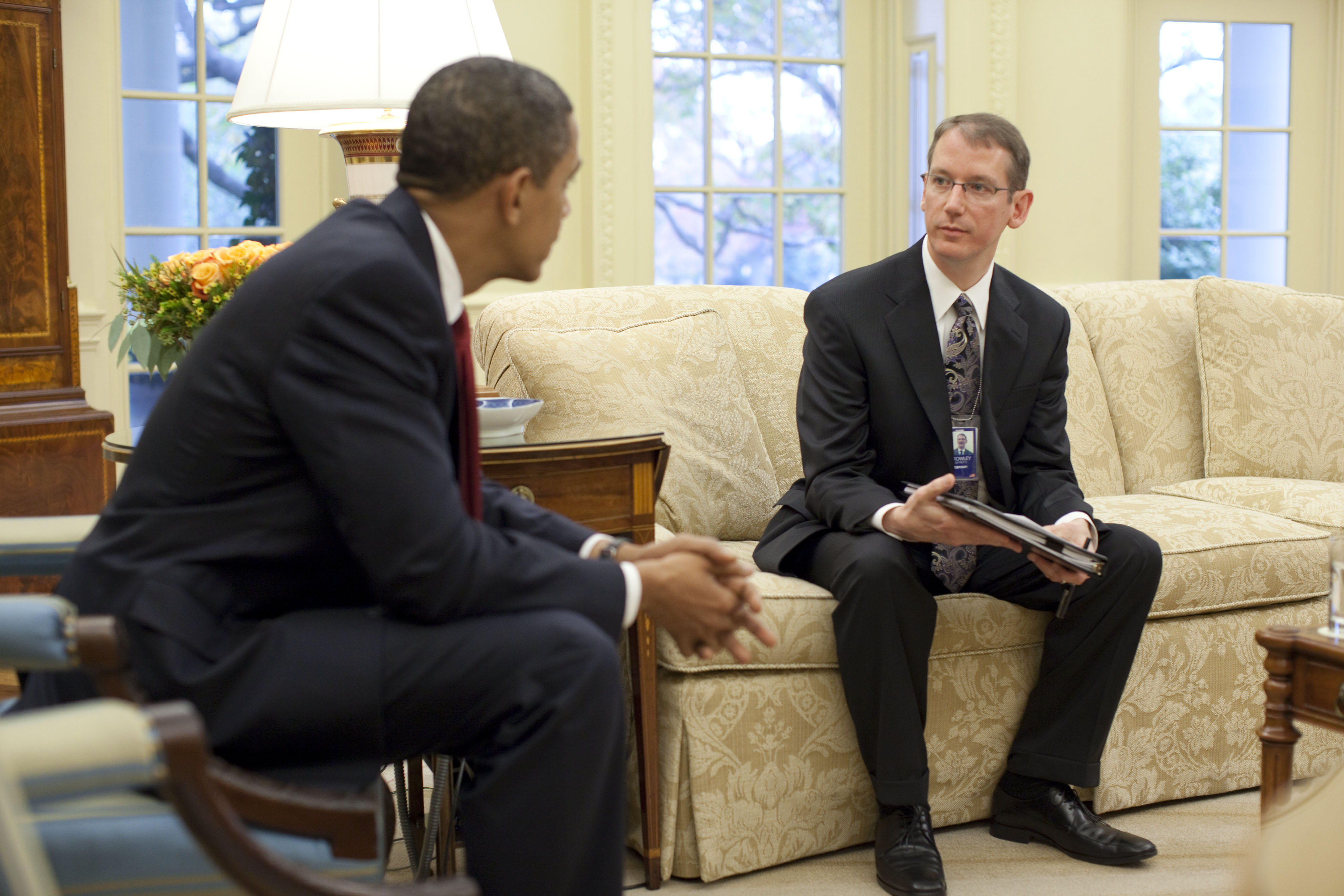 Ryan White Signing - President Obama Meets with Jeffrey Crowley