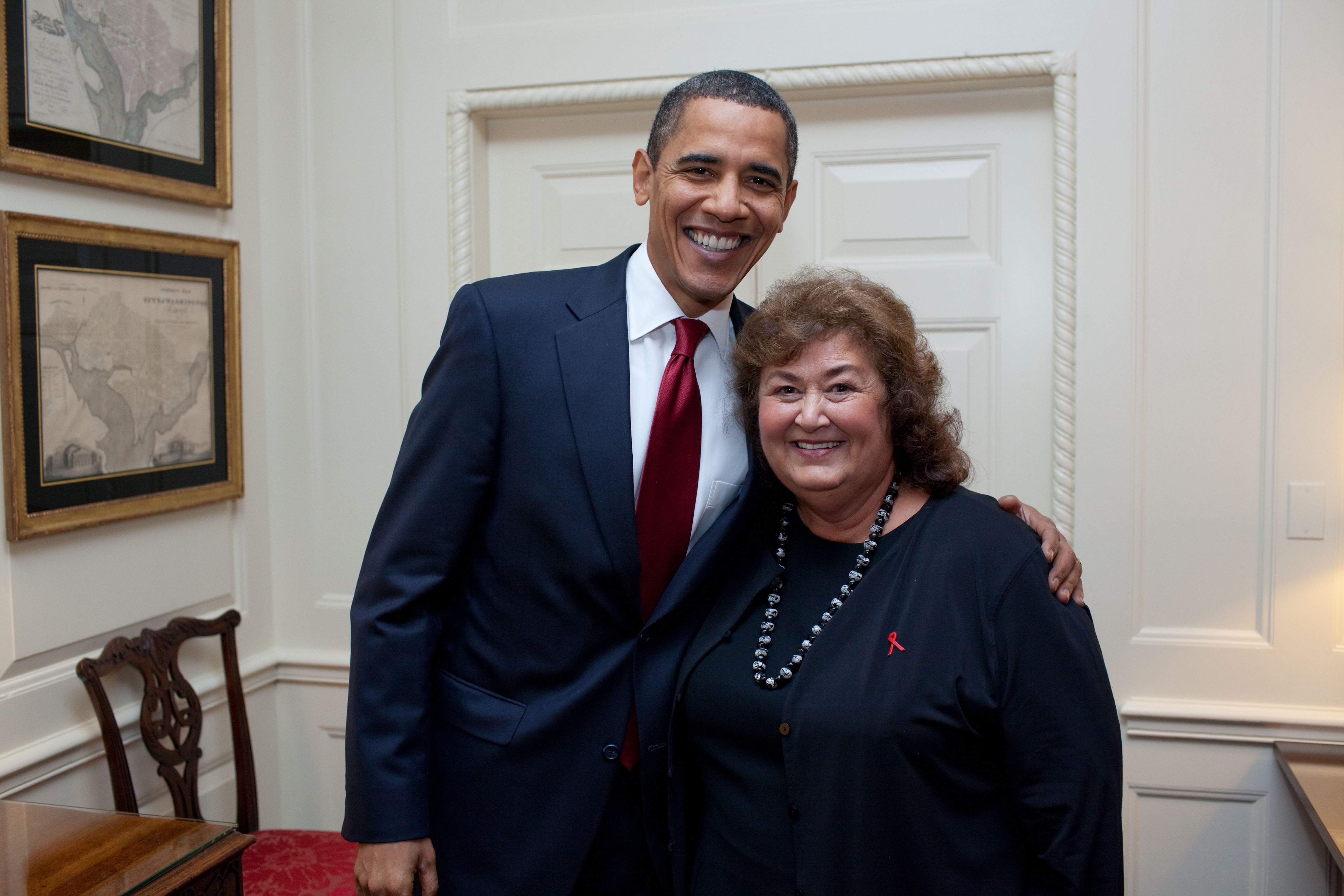 Ryan White Signing - President Obama and Jeanne White Ginder