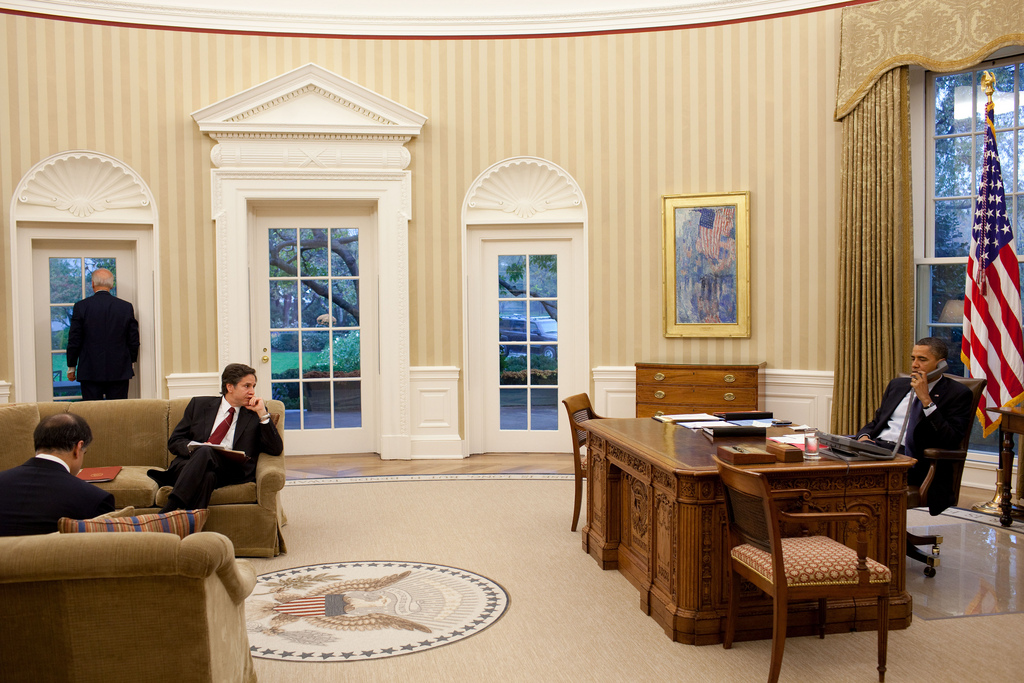 President Obama Makes Call with Vice President Biden