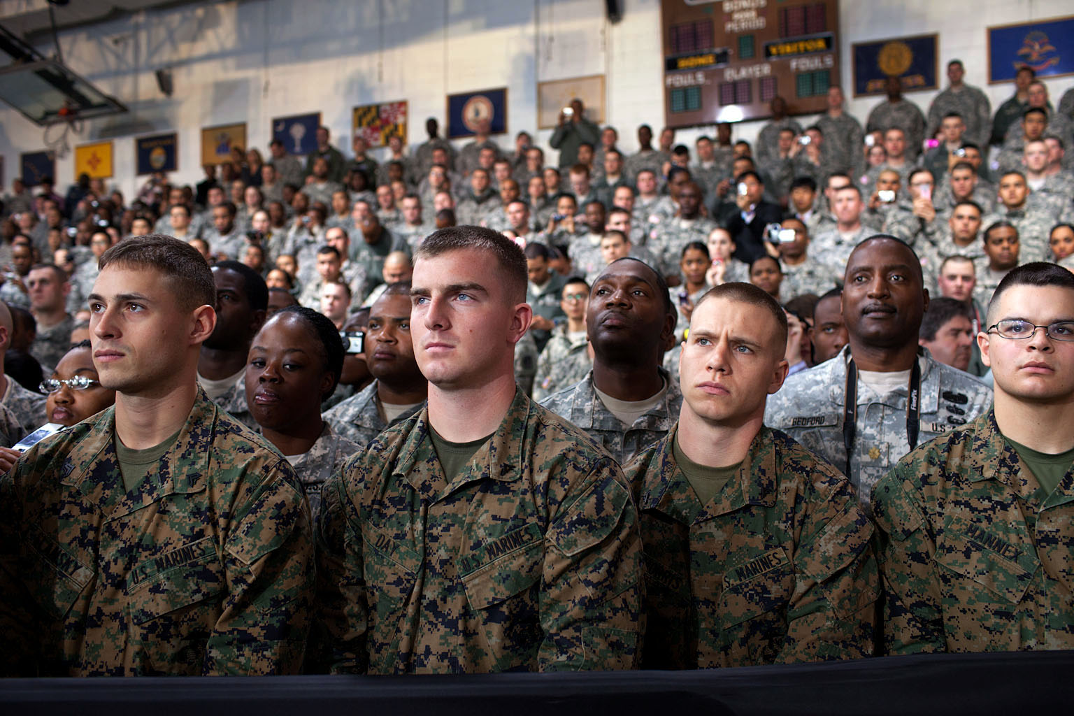Soldiers In Korea Listen to President Obama