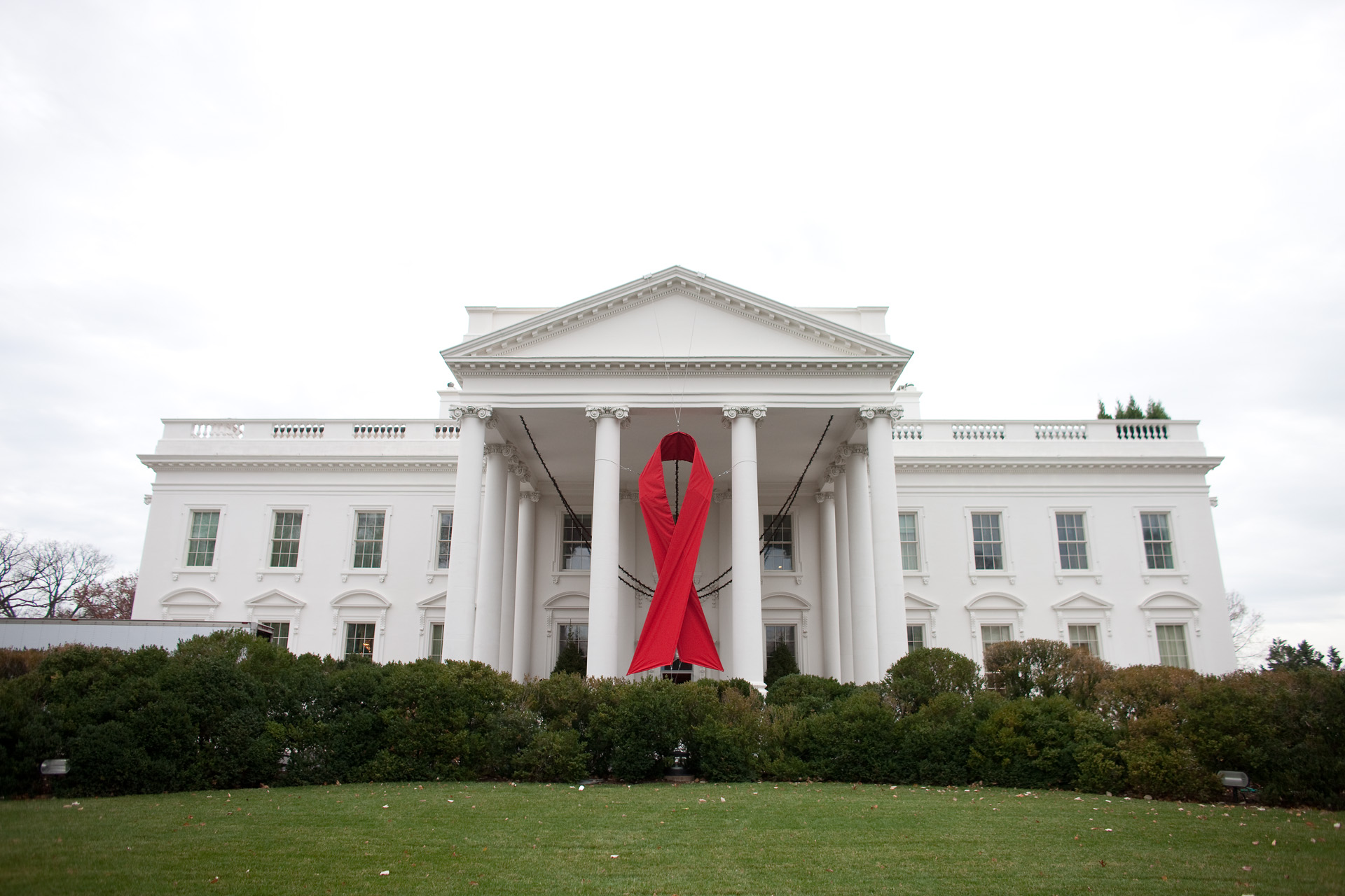 World AIDS Day Ribbon at the White House