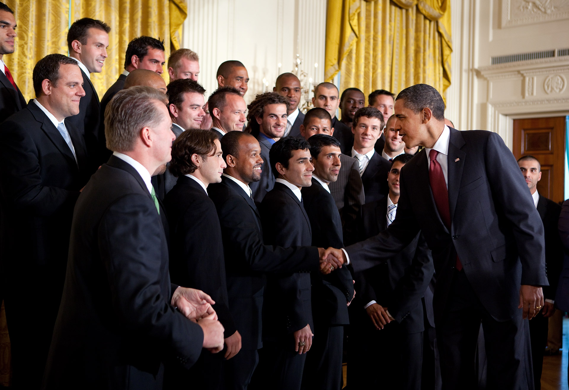 President Obama Greets Real Salt Lake at the White House