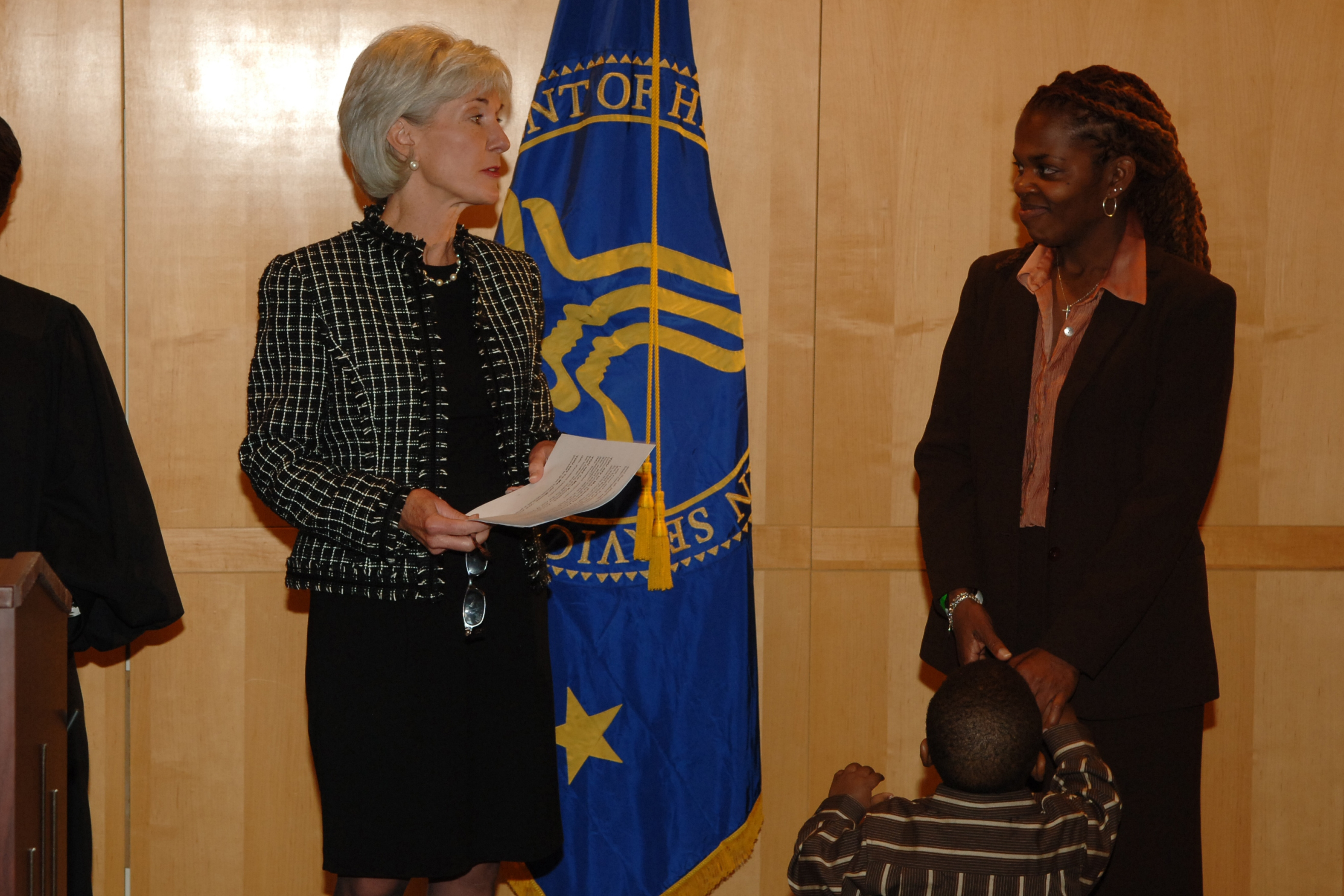 Secretary Sebelius Presides Over Adoption Ceremony