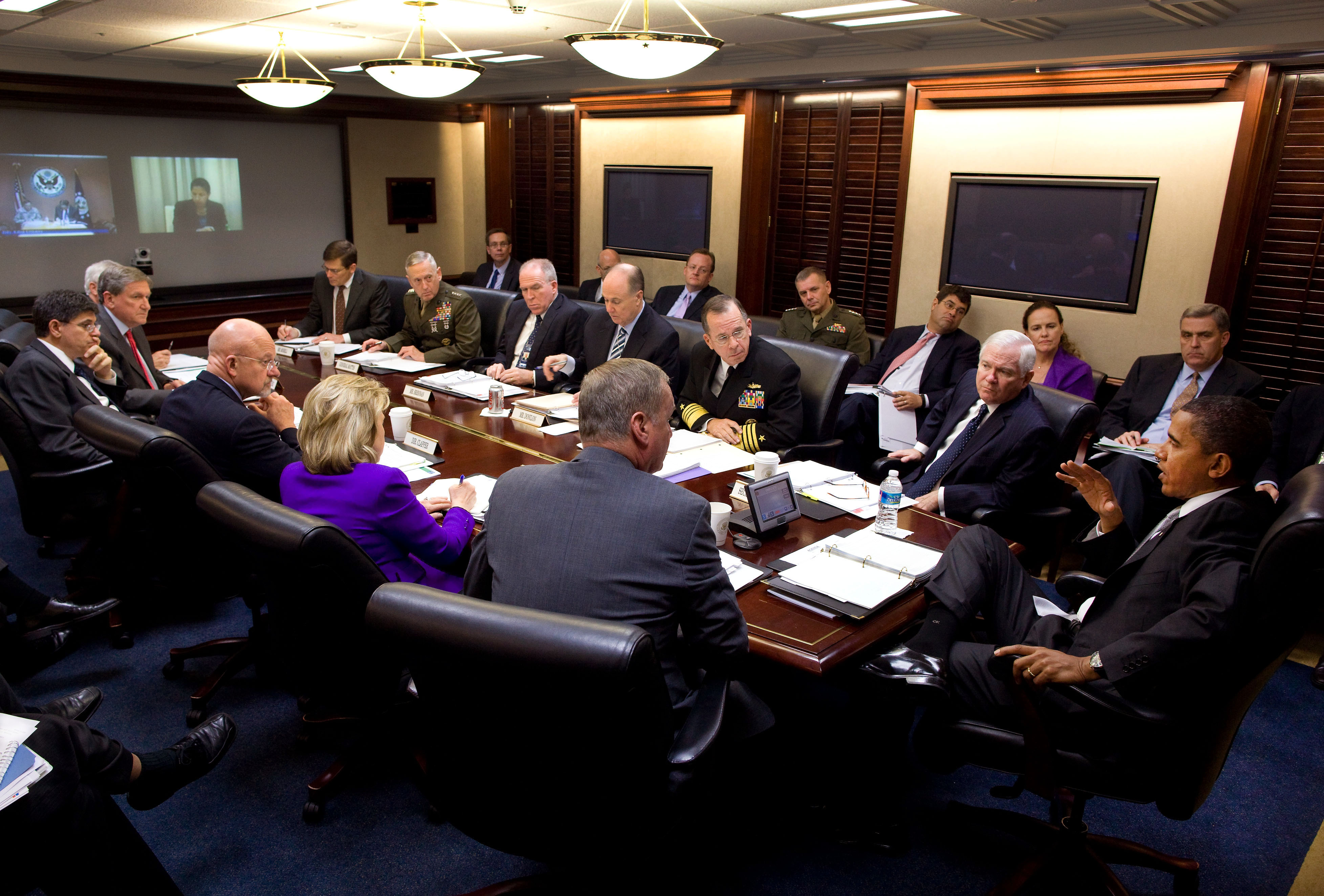 The President Meets with His National Security Team on Afghanistan