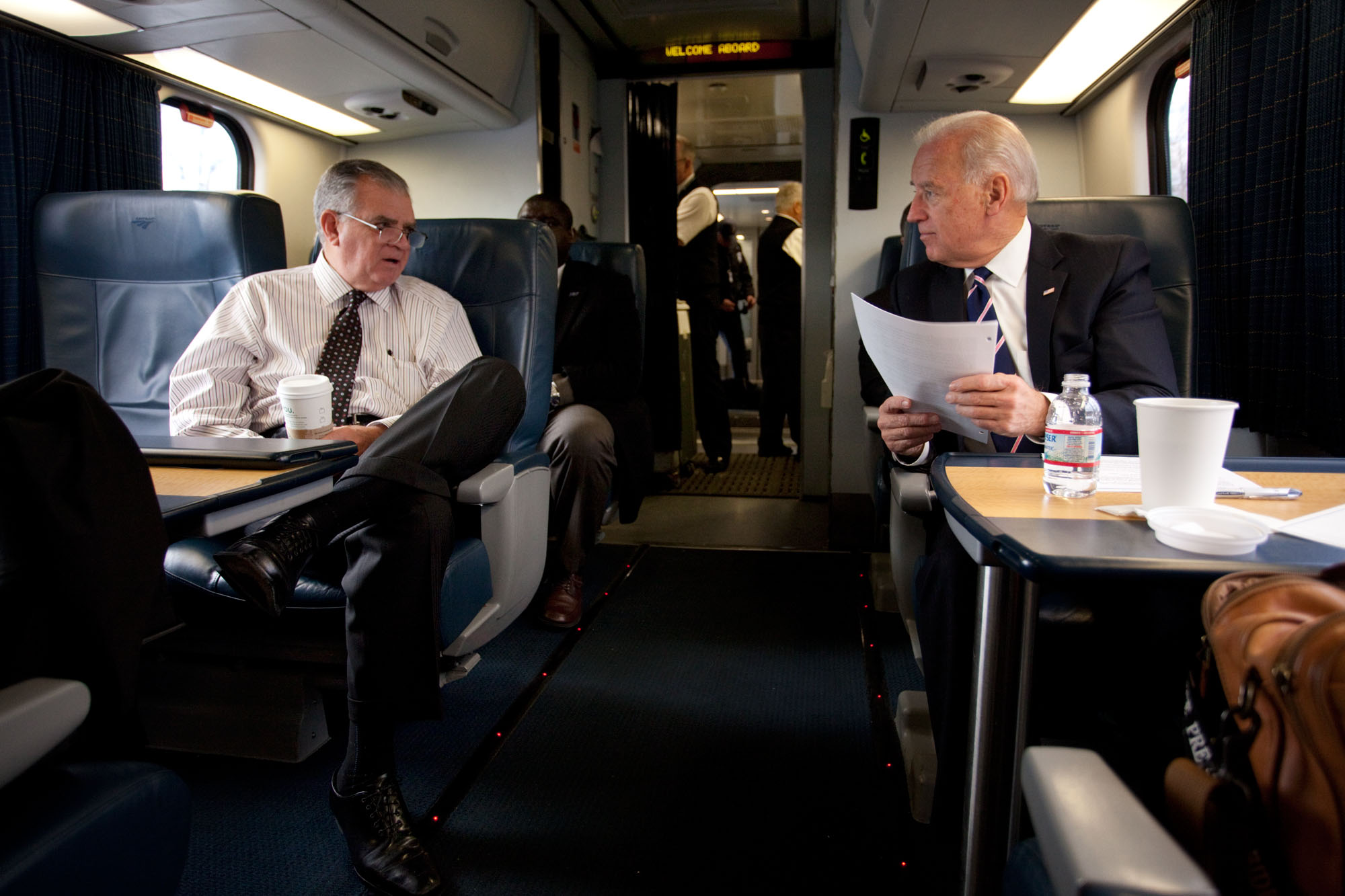 Vice President Biden and Secretary LaHood Ride Train to Philadelphia