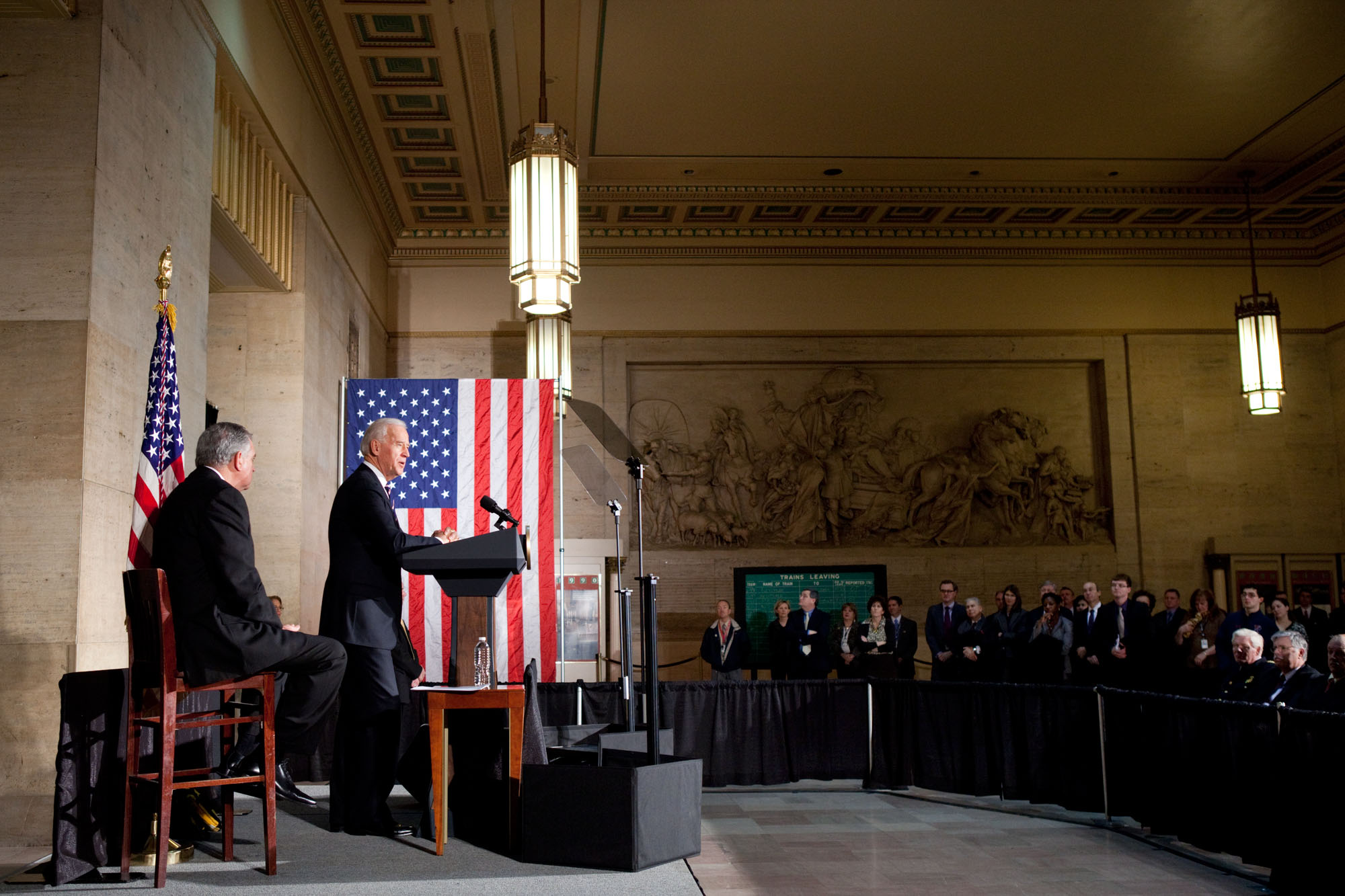 Vice President Biden and Secretary LaHood at 30th Street Station