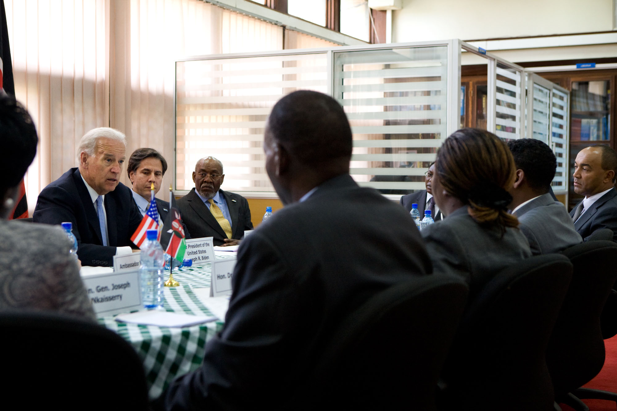 Vice President Joe Biden Meets With the Reform Caucus of Parliamentarians in Nairobi.