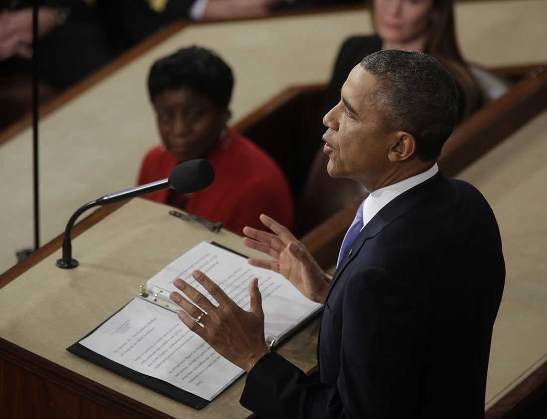 President Barack Obama delivers the State of the Union address in the House Chamber at the U.S. Capitol in Washington, D.C., Jan. 28, 2014