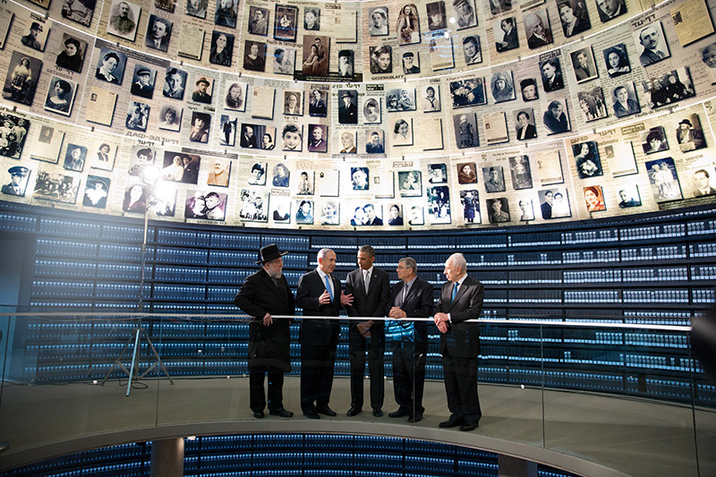 President Obama visits the Hall of Names at the Yad Vashem Holocaust Museum in Jerusalem, March 22, 2013
