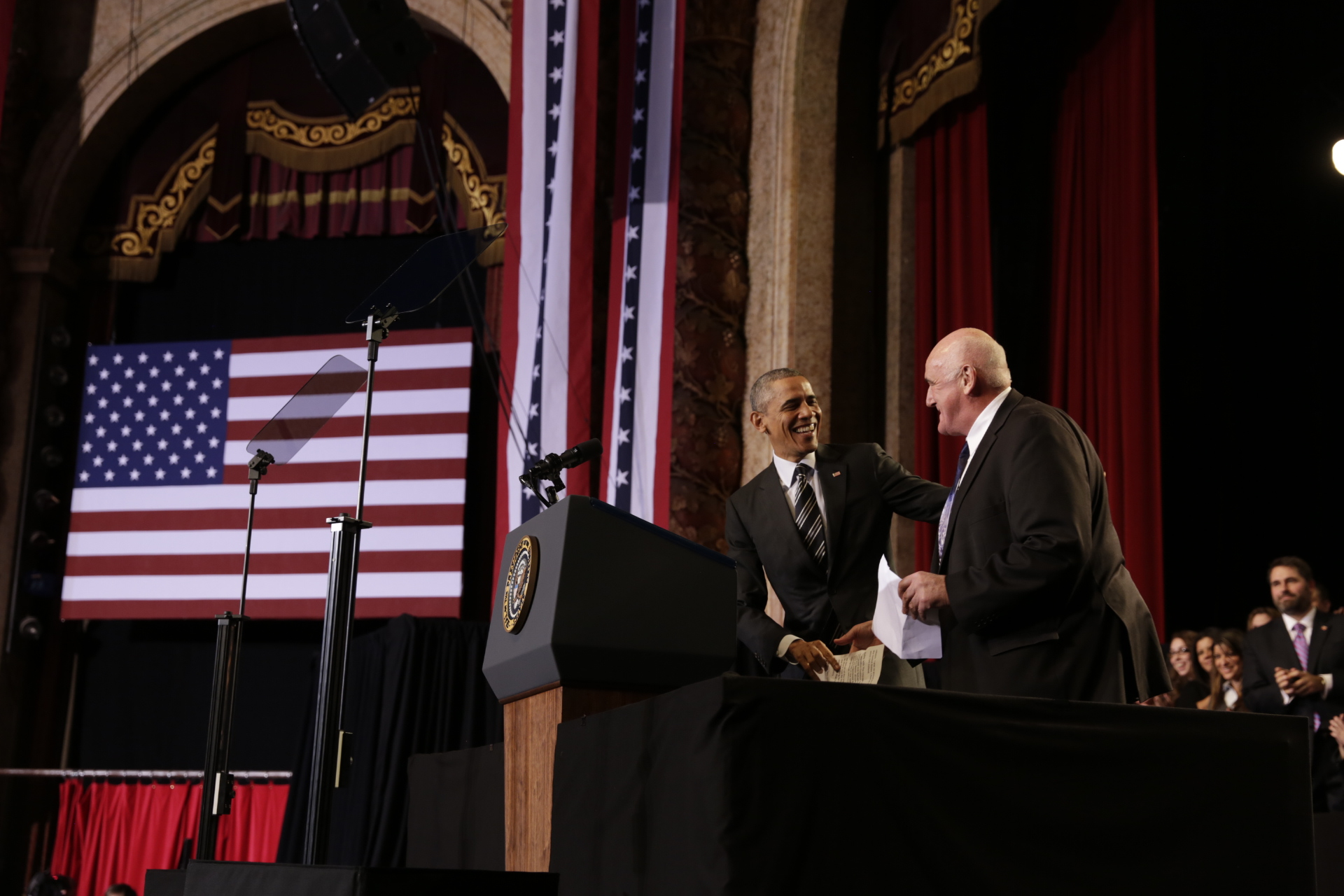 Billy Lawless introduces President Obama for remarks on immigration in Chicago