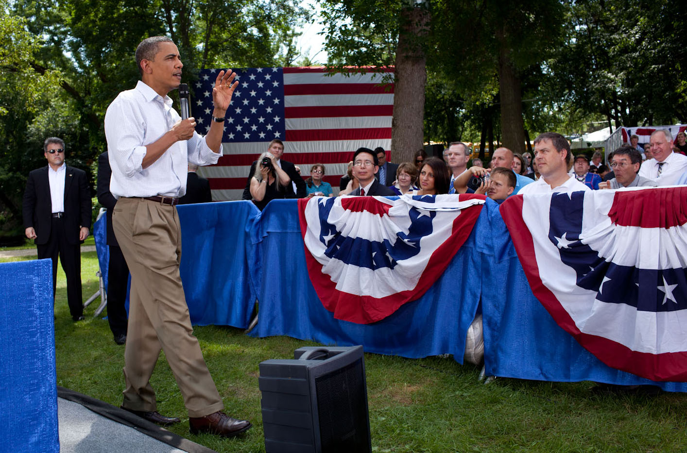 President Obama at Town Hall in Cannon Falls MN