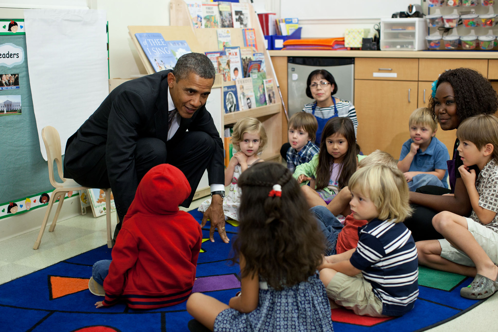 President Barack Obama at the Lab School in Mesquite, Texas
