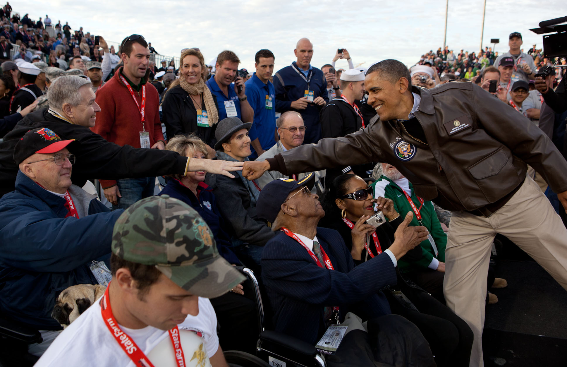 President Barack Obama Greets Veterans