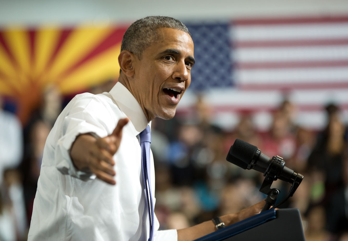 President Obama delivers remarks on housing at Central High School in Phoenix