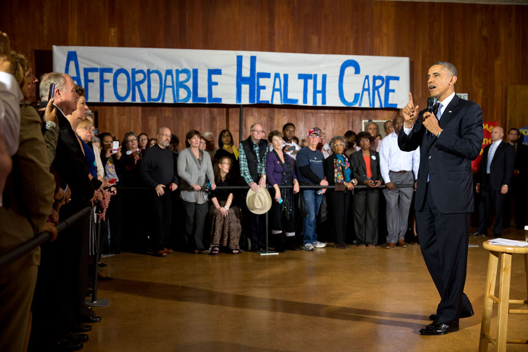 President Barack Obama delivers remarks at an Affordable Care Act event at Temple Emanu-El in Dallas, Texas, Nov. 6, 2013.