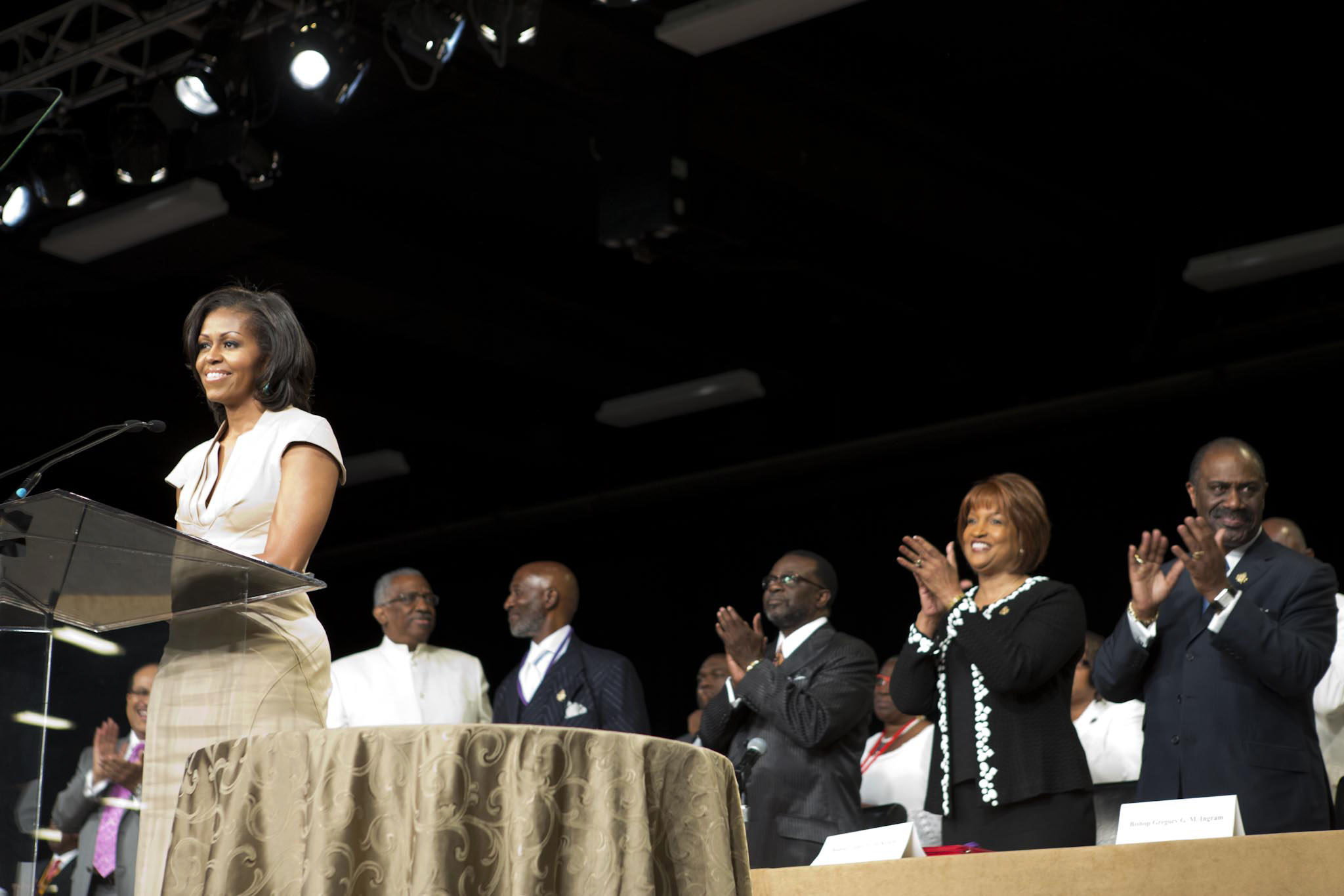 First Lady Michelle Obama at the African Methodist Episcopal Church's General Conference