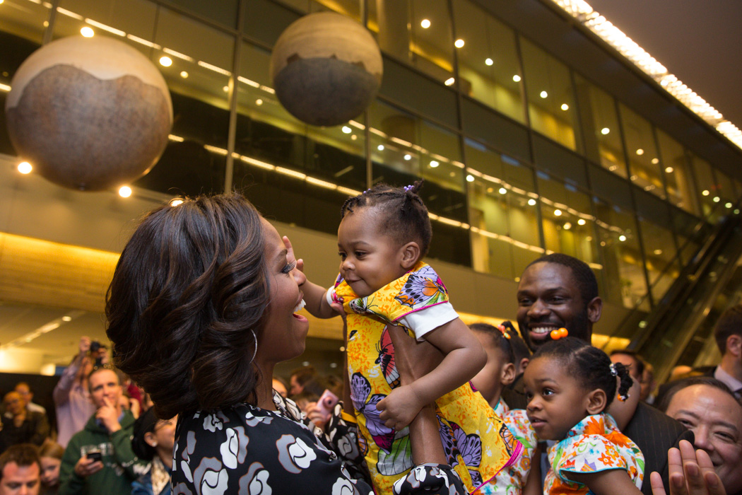 The First Lady at the US Embassy in Beijing