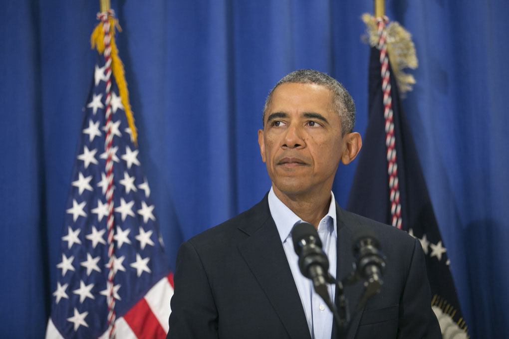 President Barack Obama speaks about the killing of American journalist James Foley