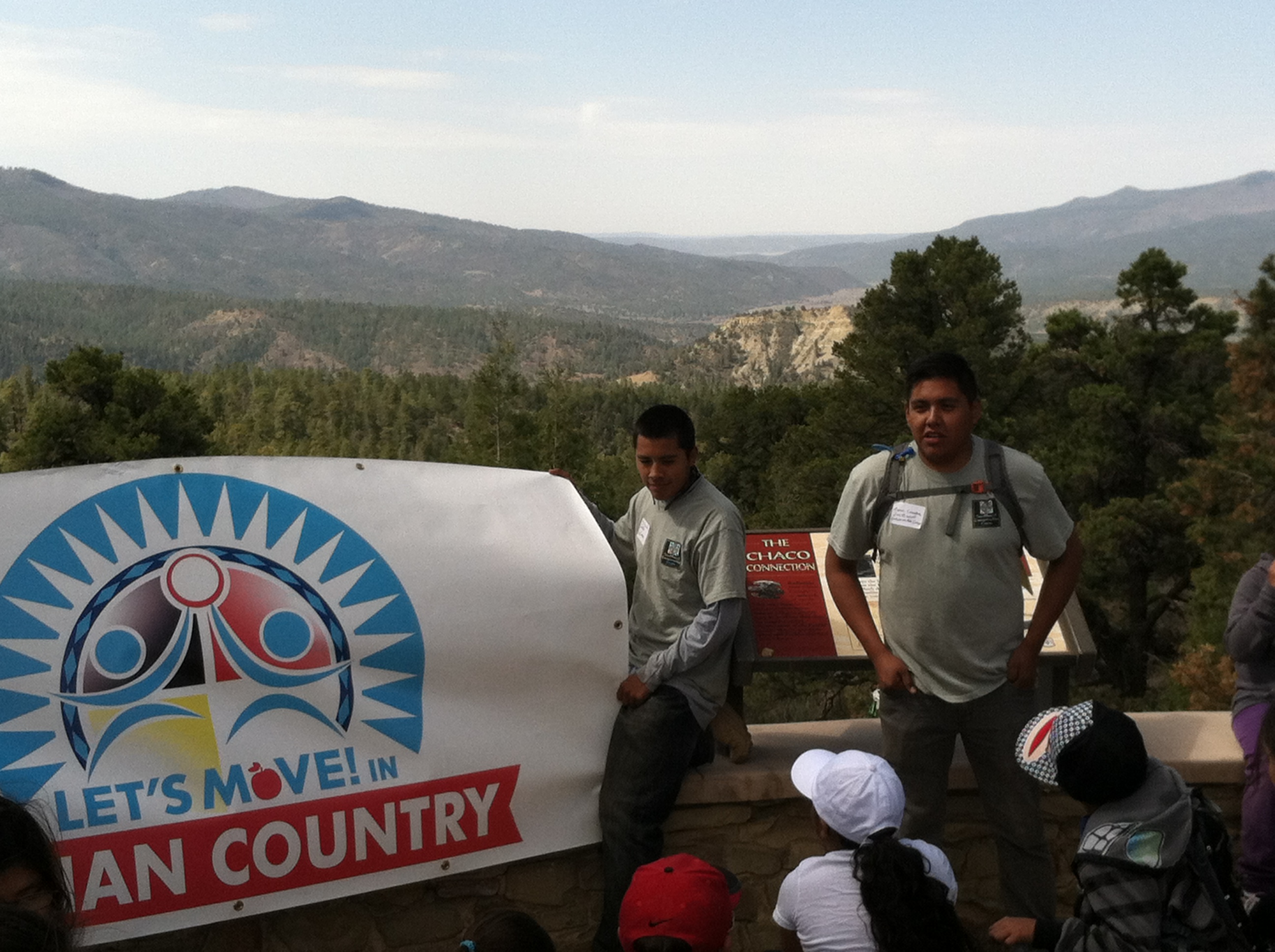 Aaron Lowden Welcomes Hikers to Chimney Rock