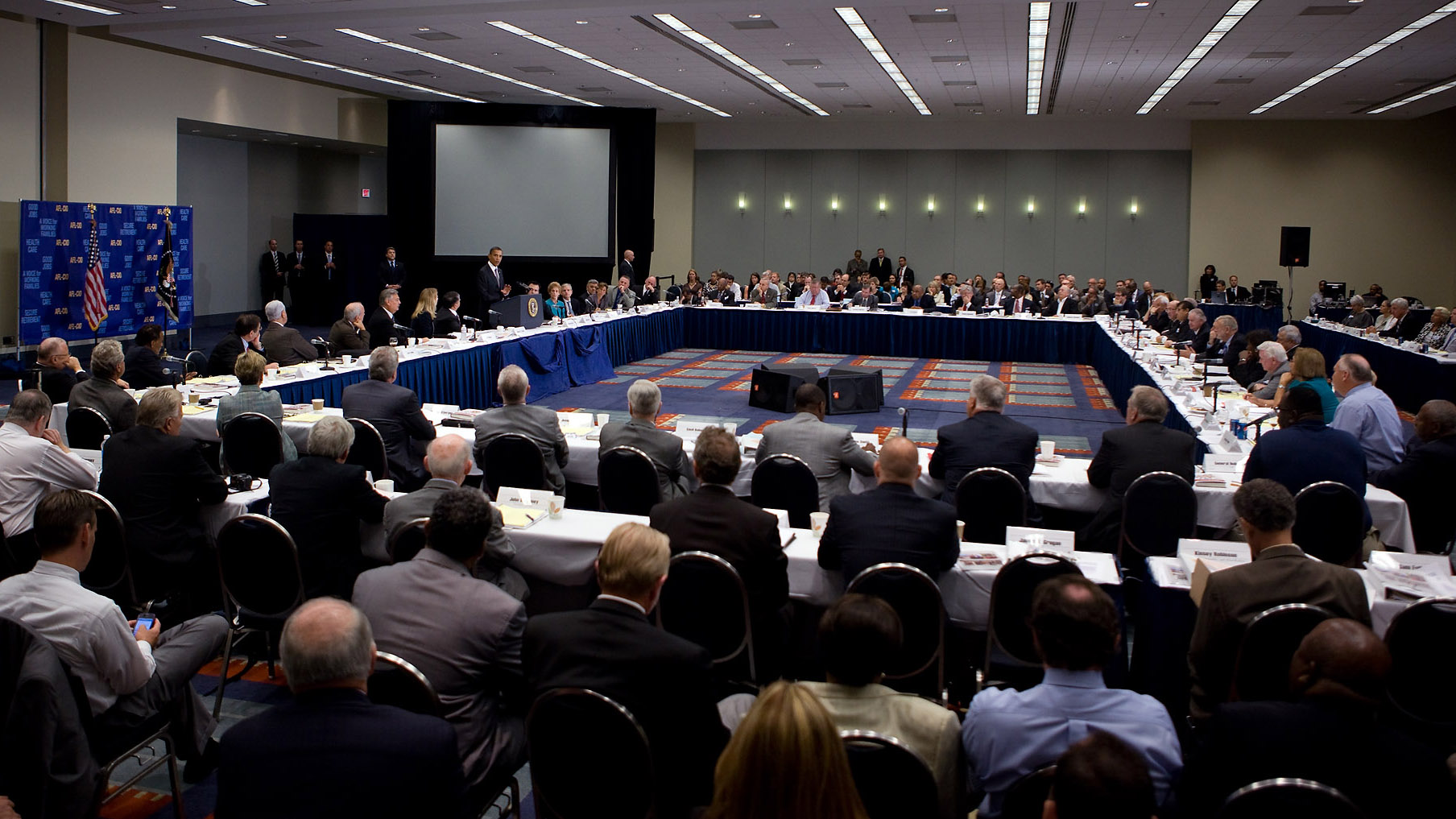 President Barack Obama Delivers Remarks to the AFL-CIO Executive Council Meeting