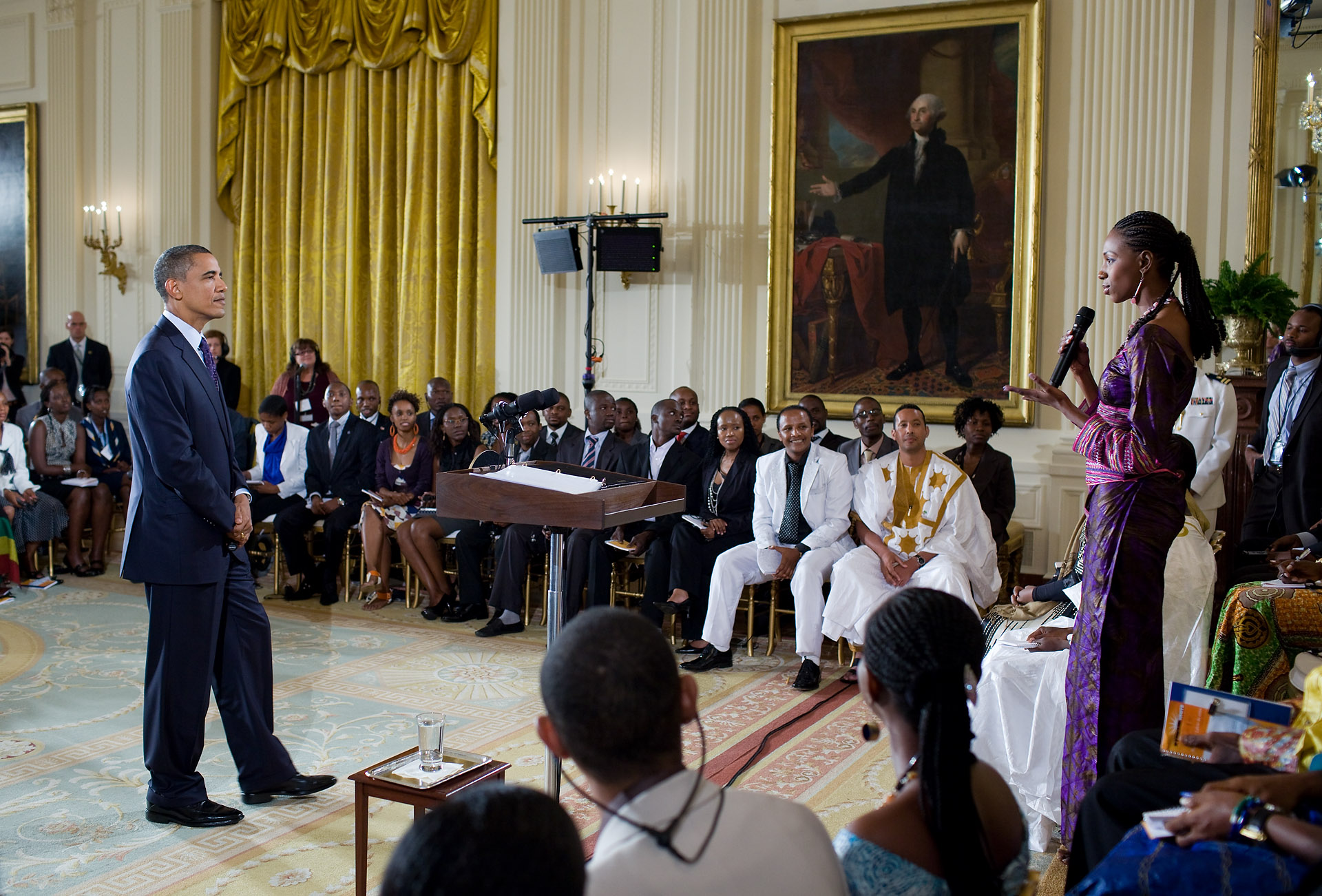 President Obama Listens to Young African Leaders in the White House