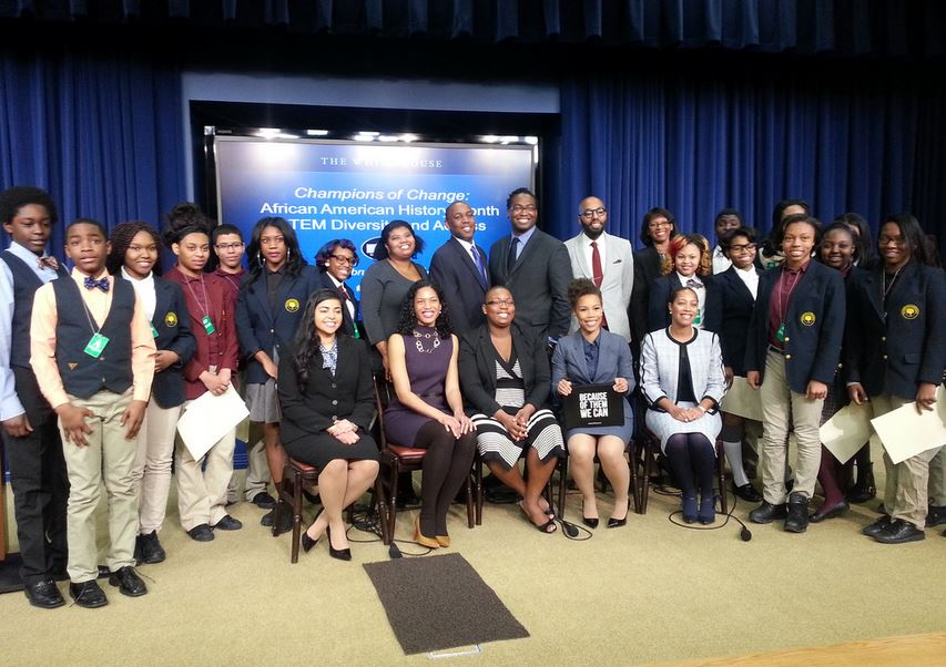 African American Champions of Change with Local Students