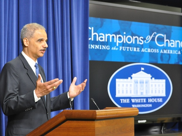 Attorney General Eric Holder Addresses Fatherhood Champions of Change