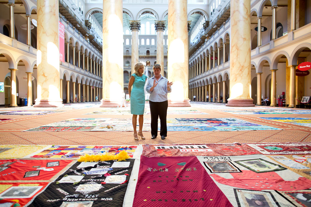 Dr. Jill Biden views AIDS Memorial Quilt