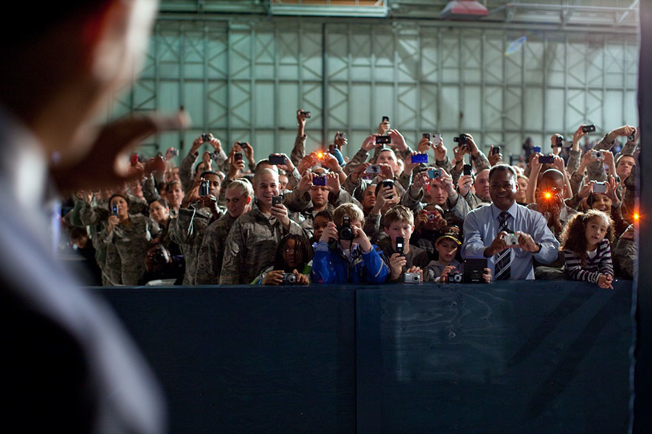 President Greets Troops in Alaska