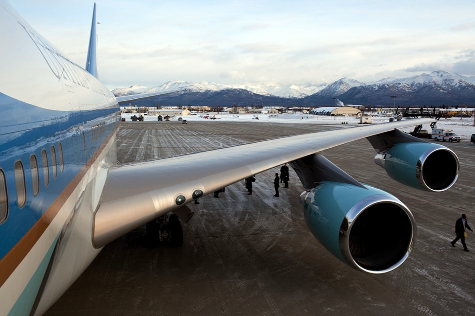 Air Force One in Alaska
