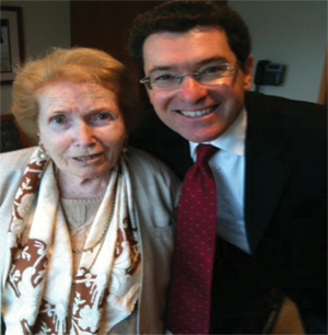 Ambassador Norm Eisen and his Mother