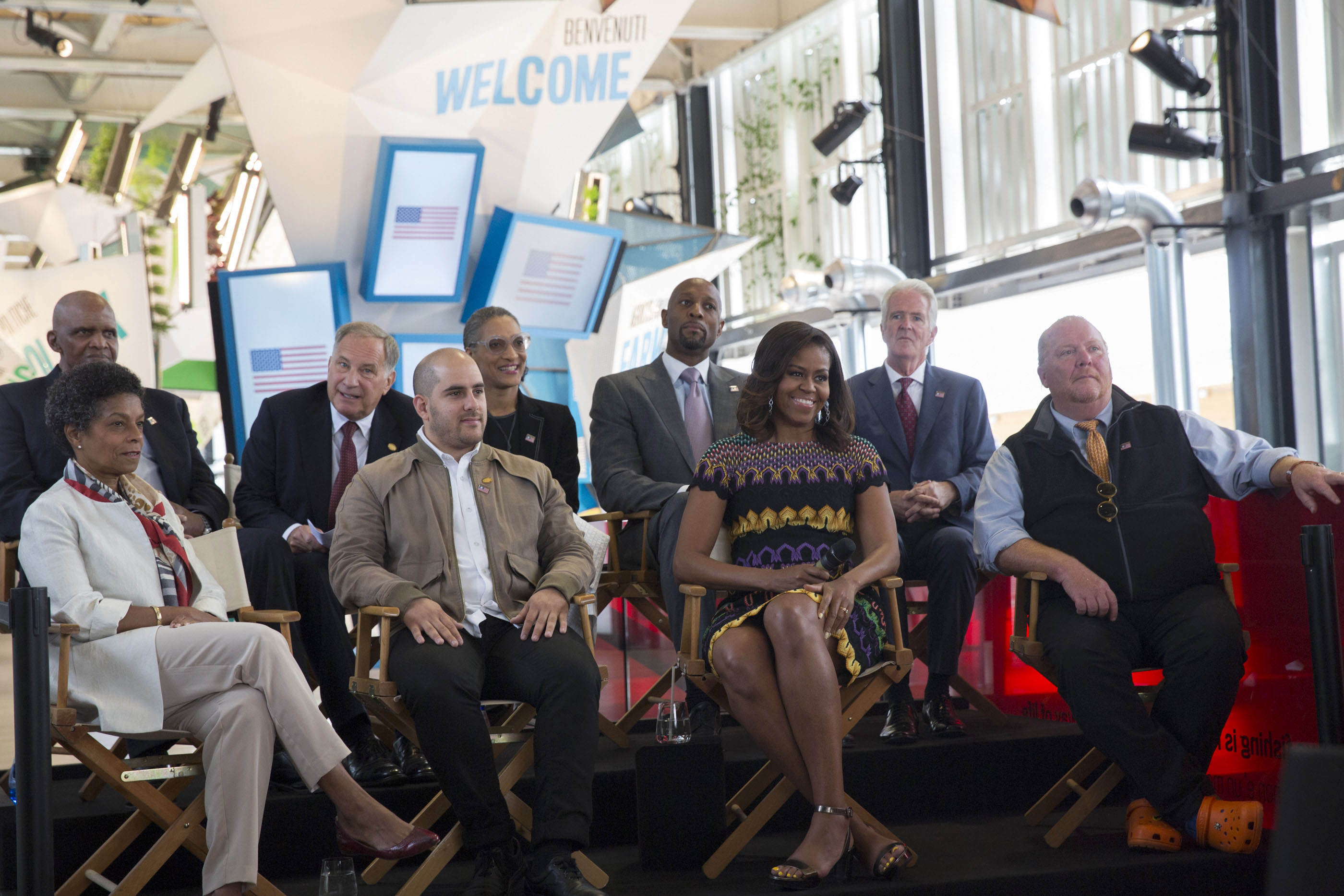 First Lady Michelle Obama and the US Delegation at Milan's World Expo