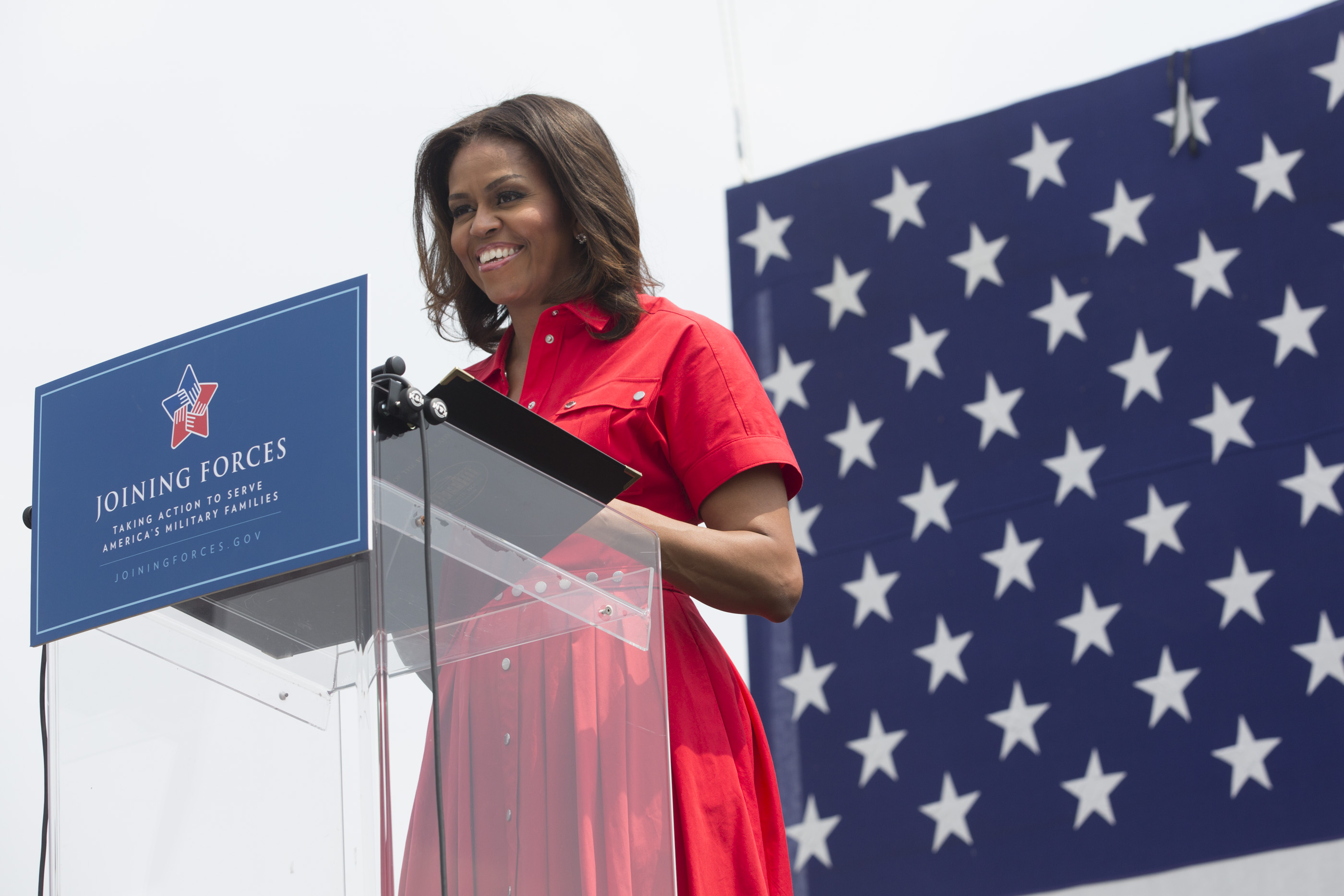 Michelle Obama delivers remarks at U.S. Army Garrison Vicenza