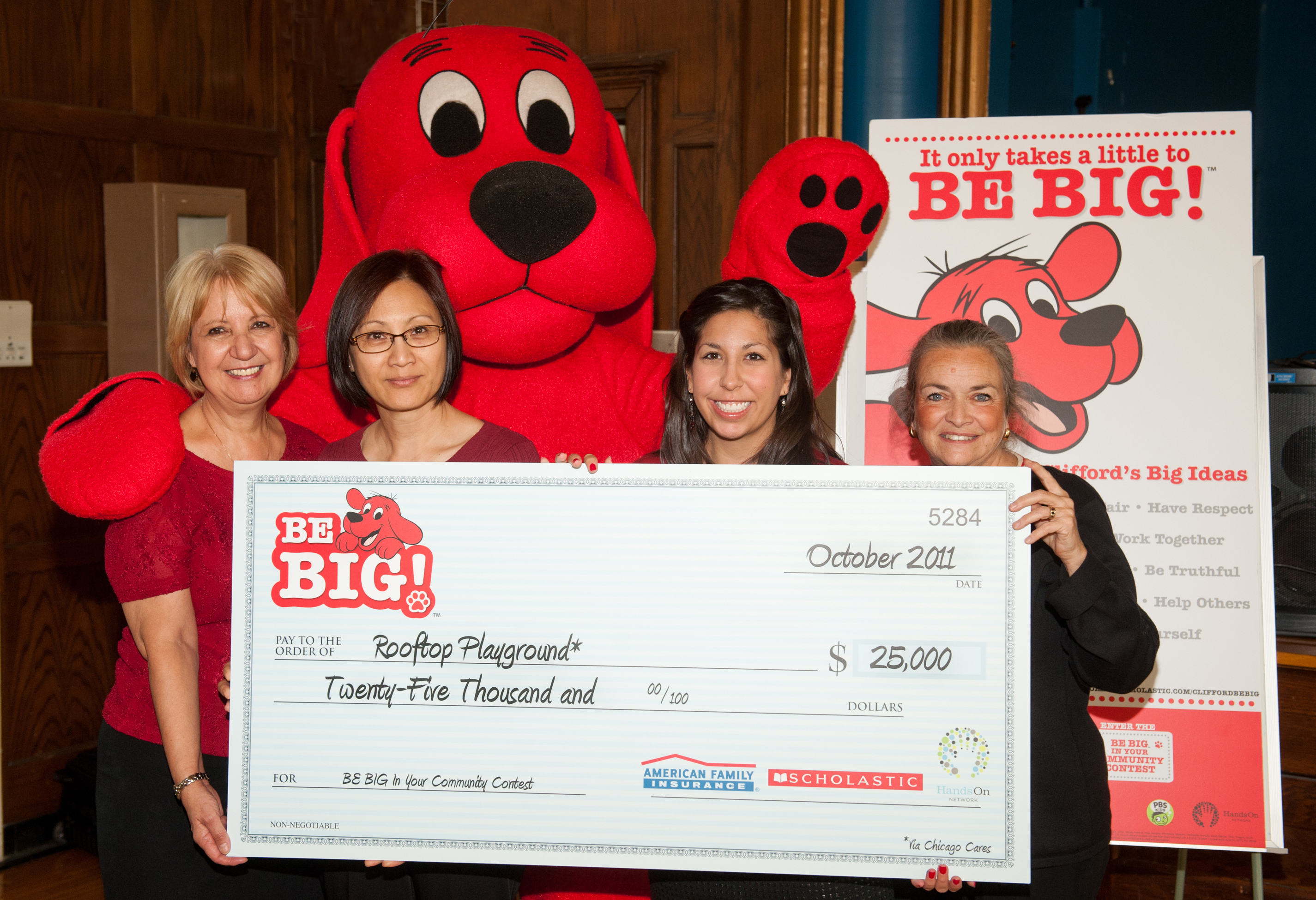 St. Edmund School, Winners of the Third Annual Clifford the Big Red Dog® BE BIG™ In Your Community Contest
