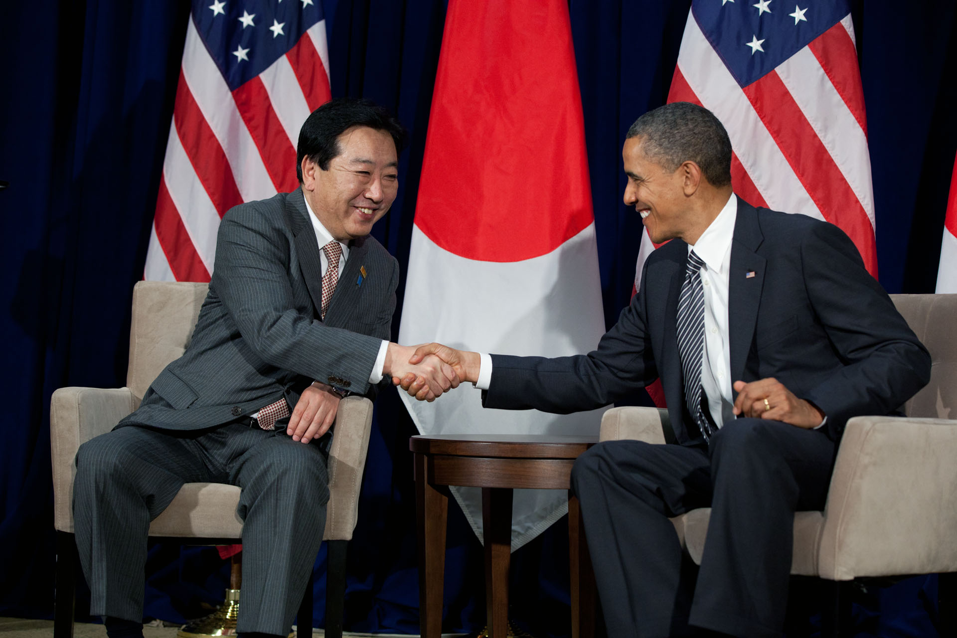 President Barack Obama meets with Prime Minister Yoshihiko Noda of Japan