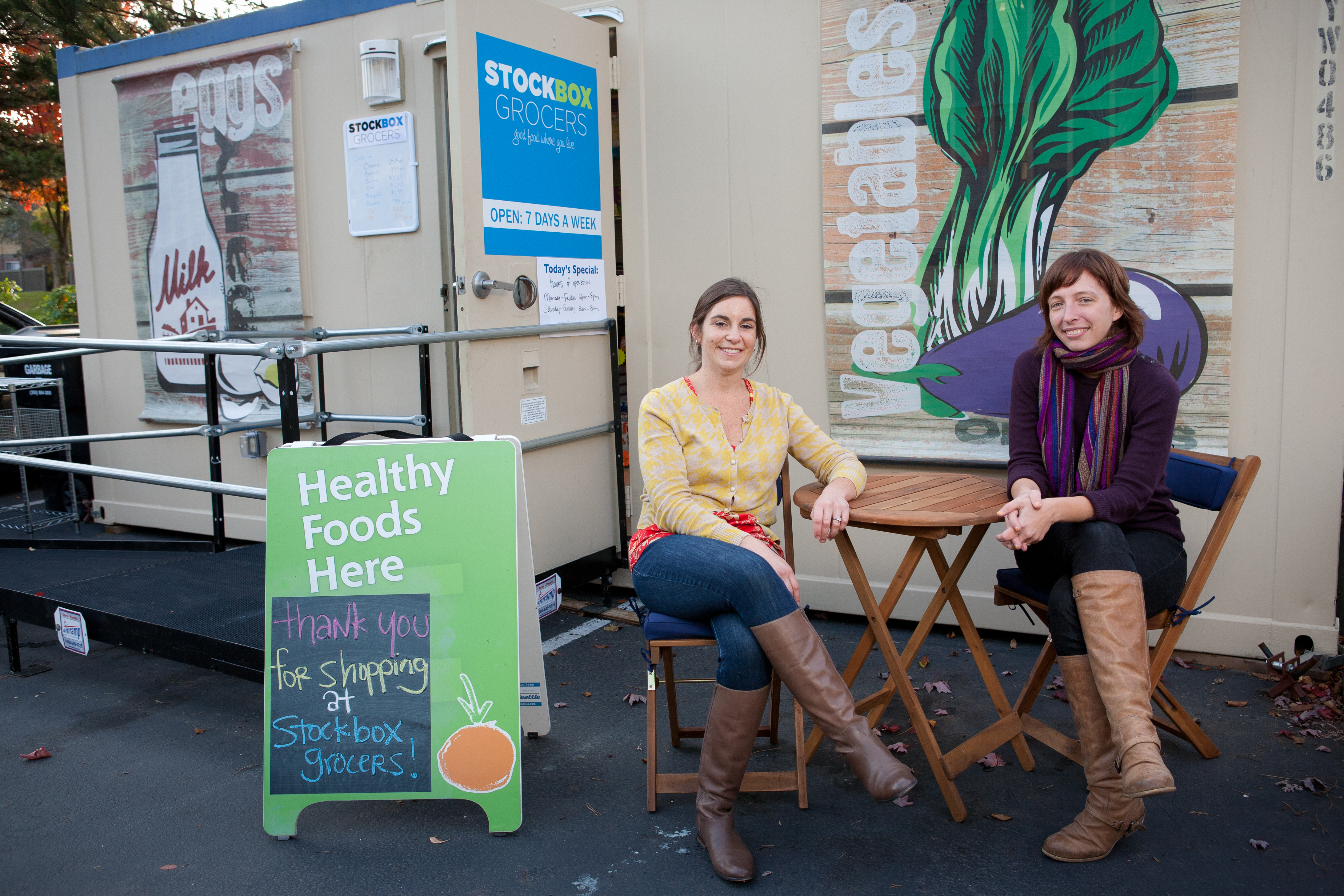 Carrie Ferrence and Jacqueline Gjurgevich of Stockbox Grocers