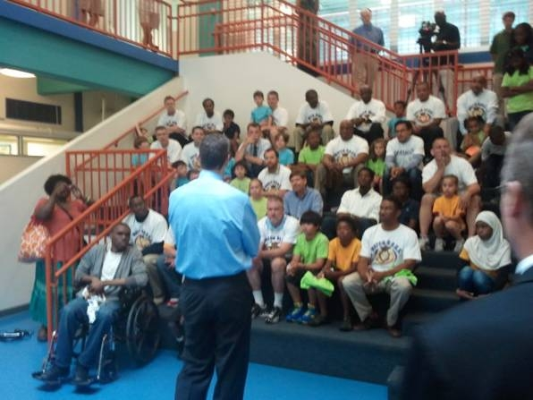 Secretary Arne Duncan Talks with Watch D.O.G.S. Dads and Kids