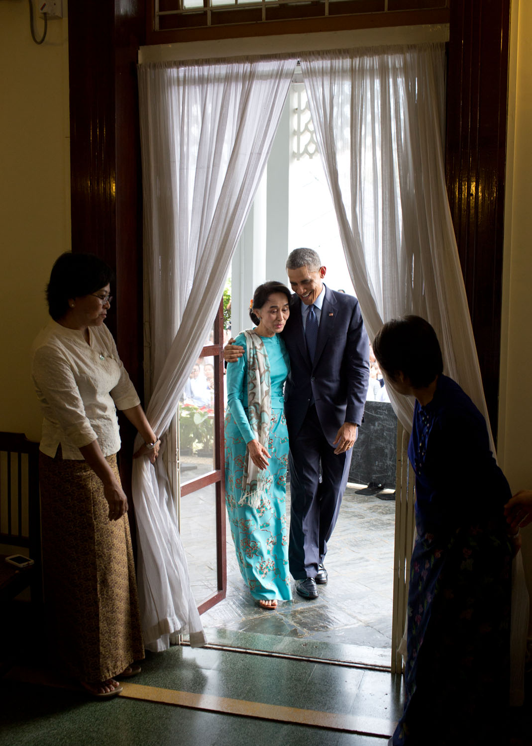 President Obama Meets with Aung San Suu Kyi