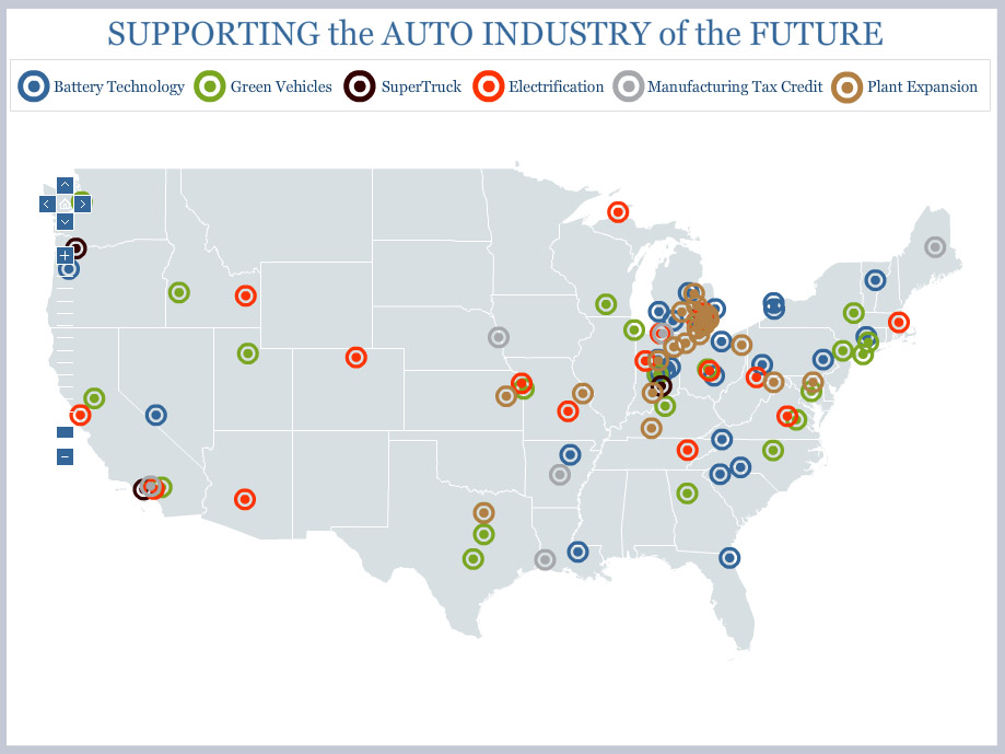 The American Auto Industry Comeback: Full Map
