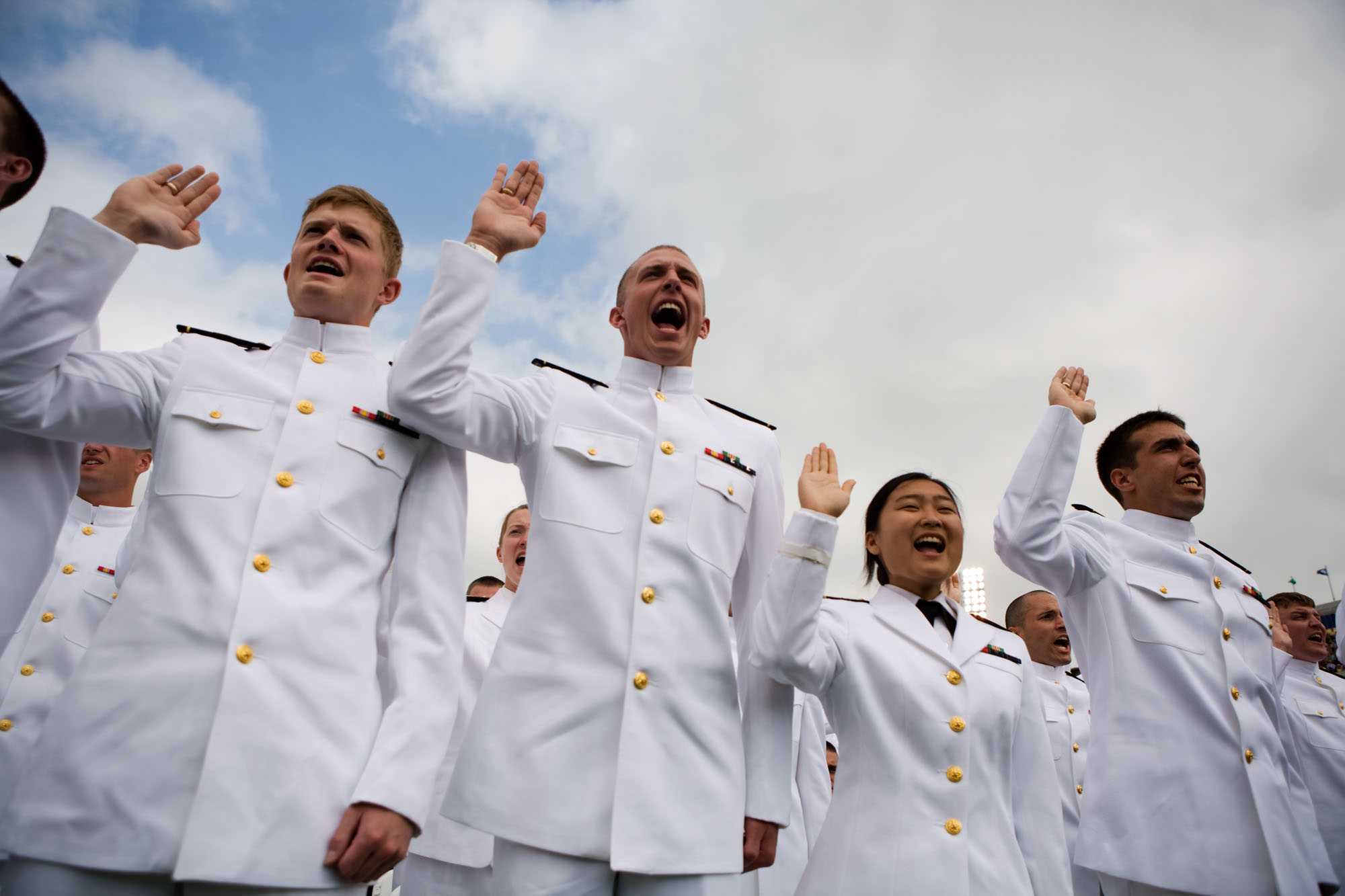 Naval Academy Graduates Take the Oath of Office