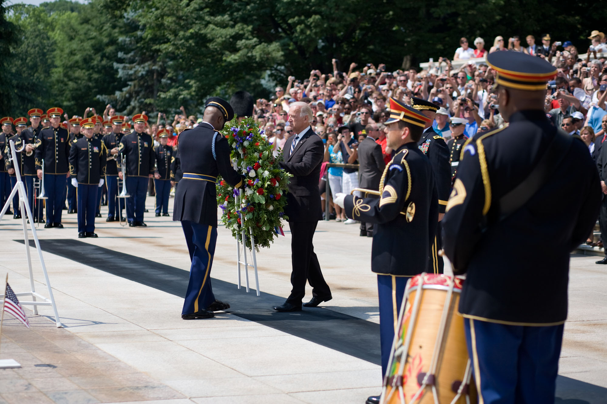 Vice President Biden Lays a Wreath at the Tomb of the Unknowns in Arlington