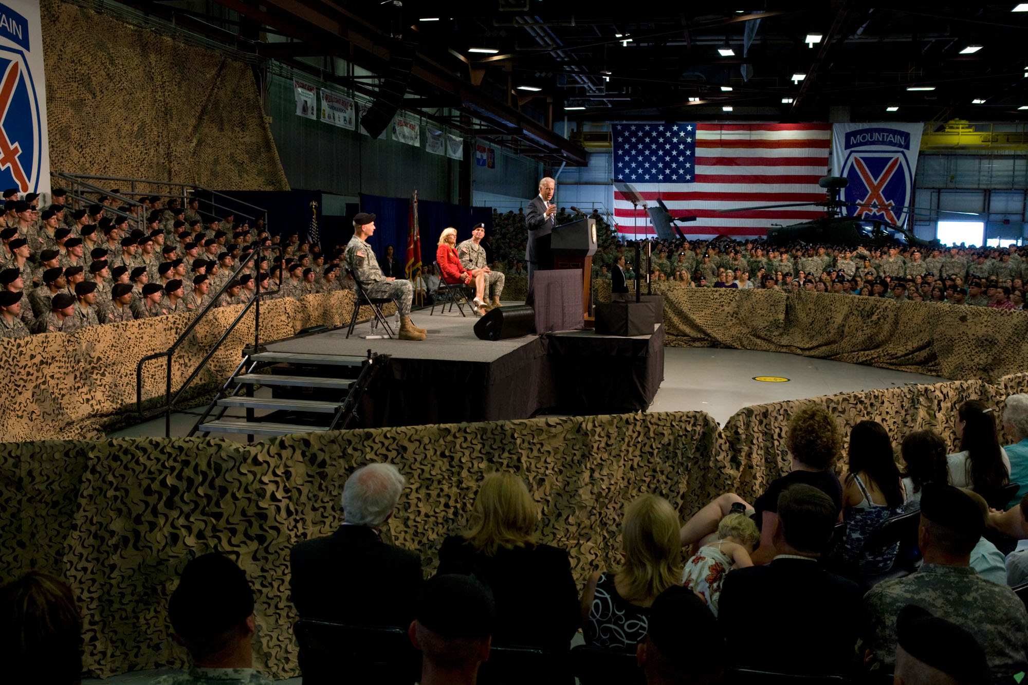 Vice President Biden Speaks at Welcome Home Ceremony at Fort Drum in New York