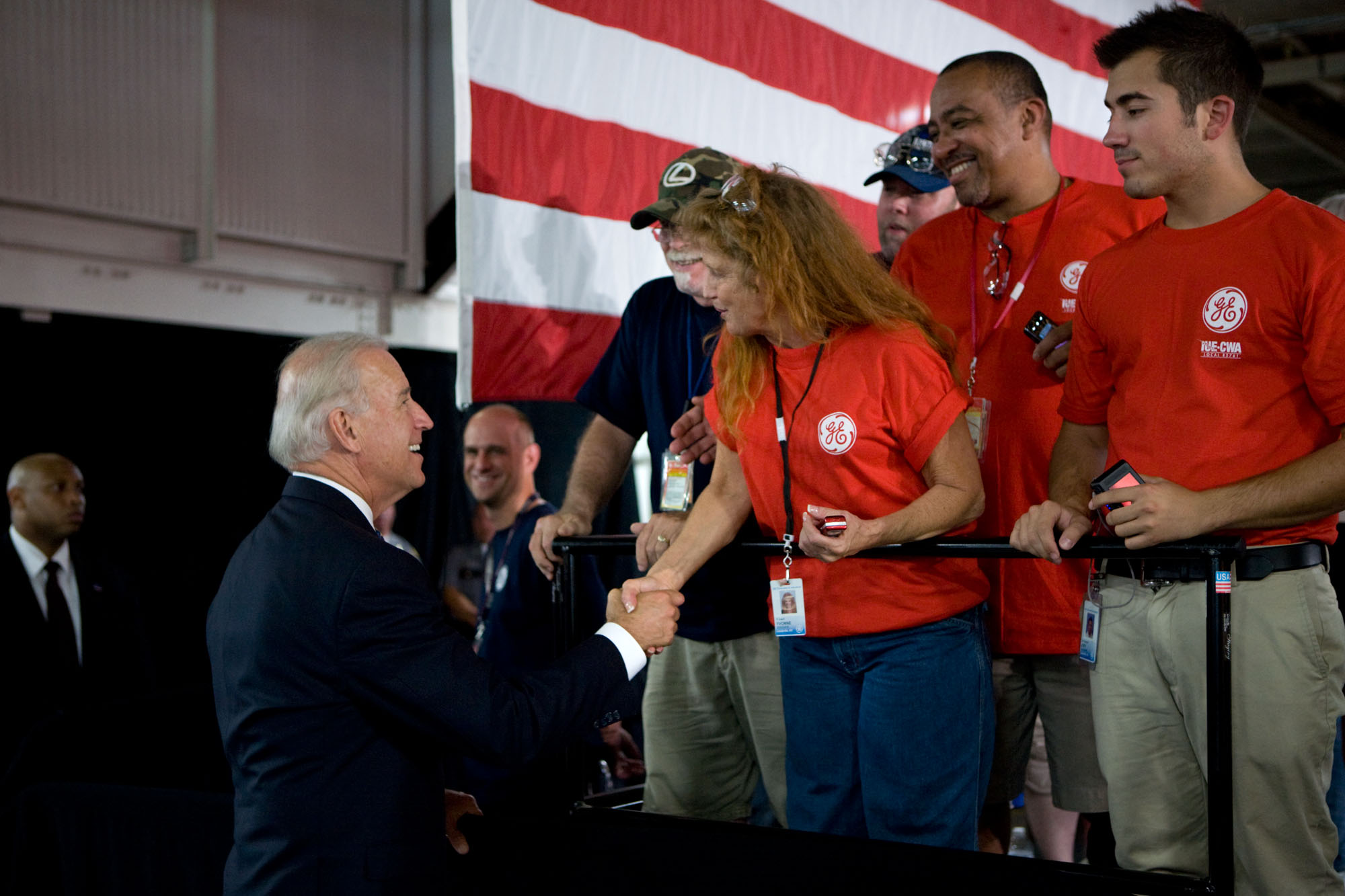 Vice President Biden Greets Workers at GE Appliances & Lighting in Louisville, Kentucky